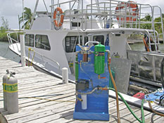 Marine diesel polishing