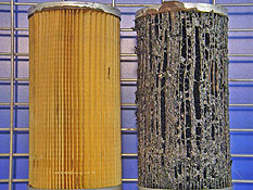 Diesel filters before & after